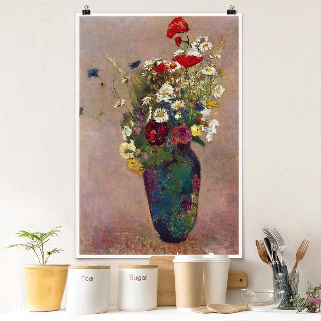 Poster - Odilon Redon - Vaso Con I Papaveri - Verticale 3:2