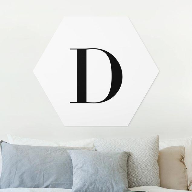 Esagono in forex - Lettera Serif Bianco D
