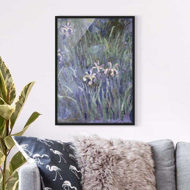 Poster con cornice - Claude Monet - Iris - Verticale 4:3