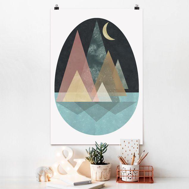 Poster - Utopian Landscape - Luna - Verticale 3:2