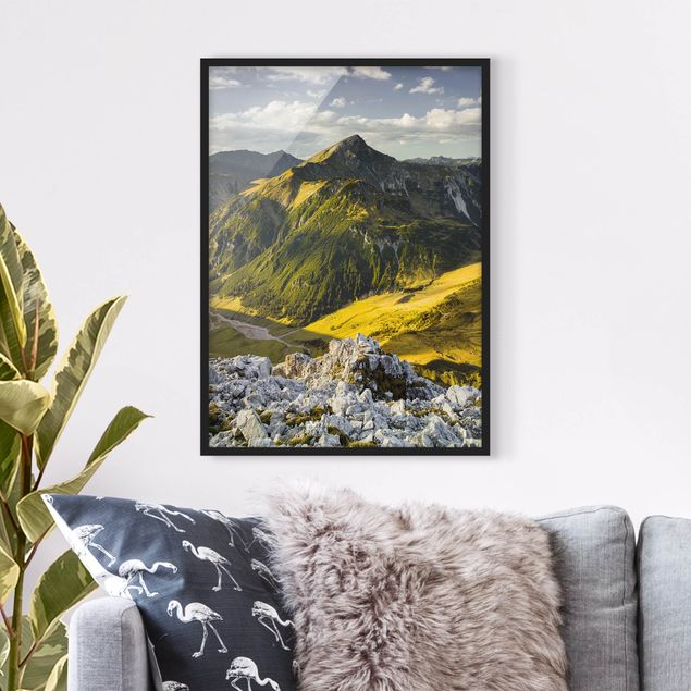 Poster con cornice - Mountains And Valley Of The Lechtal Alps In Tirol - Verticale 4:3