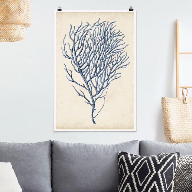 Poster - Indigo Coral III - Verticale 3:2