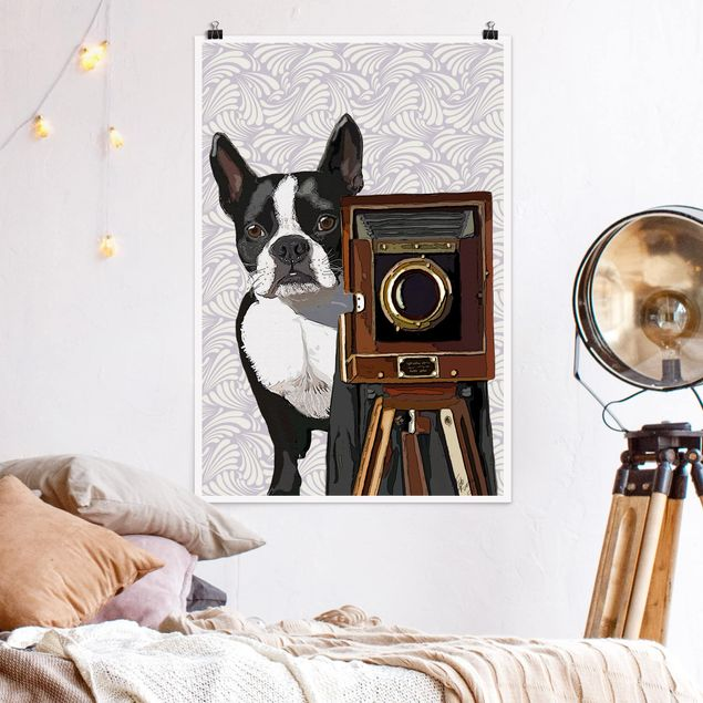 Poster - Wildlife Photographer Terrier - Verticale 3:2
