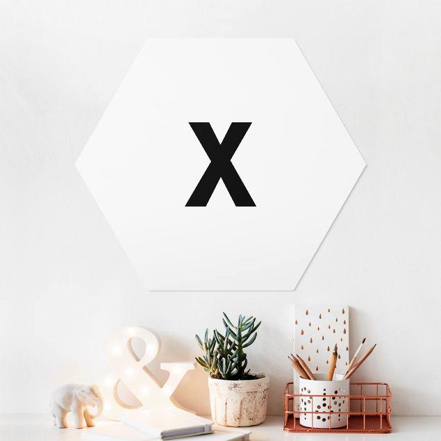 Esagono in forex - Lettera X Bianco
