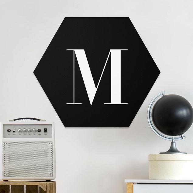 Esagono in forex - Lettera Serif Nero M