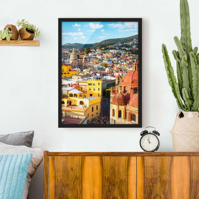 Poster con cornice - Colorful Houses Guanajuato - Verticale 4:3