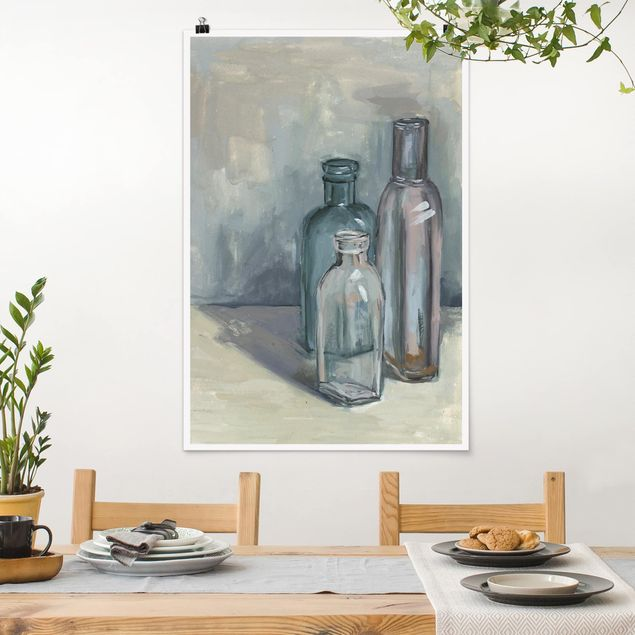 Poster - Ancora Bottiglie vita con vetro I - Verticale 3:2