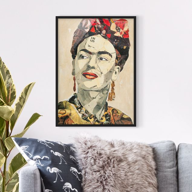 Poster con cornice - Frida Kahlo - Collage No.2 - Verticale 4:3