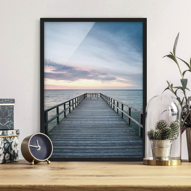 Poster con cornice - Footbridge Promenade - Verticale 4:3