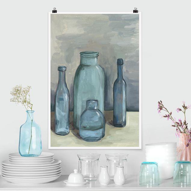Poster - Ancora Bottiglie vita con vetro II - Verticale 3:2