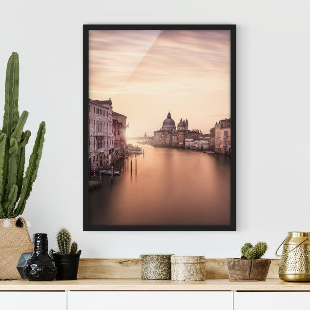 Poster con cornice - Evening In Venice - Verticale 4:3
