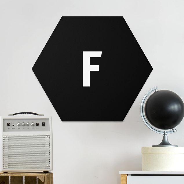 Esagono in forex - Lettera Nero F