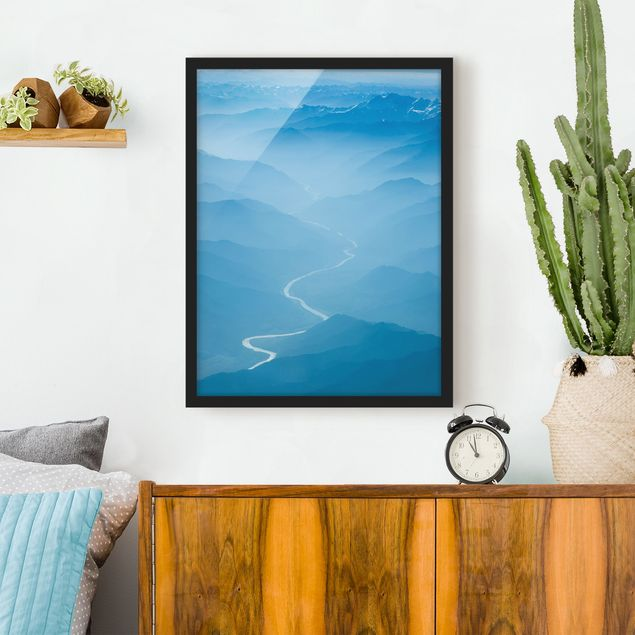 Poster con cornice - View Over The Himalayas - Verticale 4:3