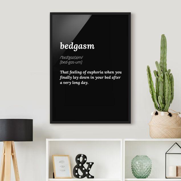 Poster con cornice - Bedgasm - Verticale 4:3