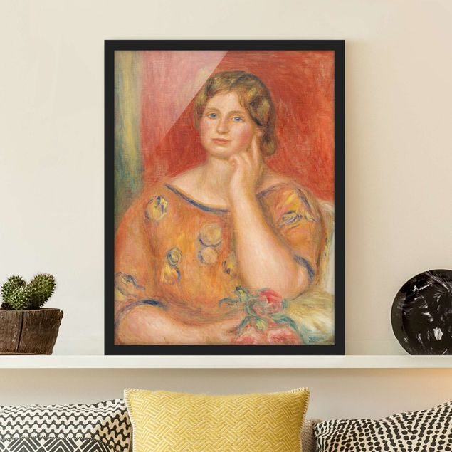 Poster con cornice - Auguste Renoir - Mrs. Osthaus - Verticale 4:3