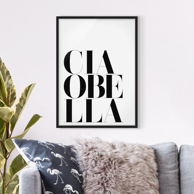 Poster con cornice - Ciao Bella - Verticale 4:3