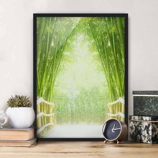 Poster con cornice - Bamboo Way - Verticale 4:3