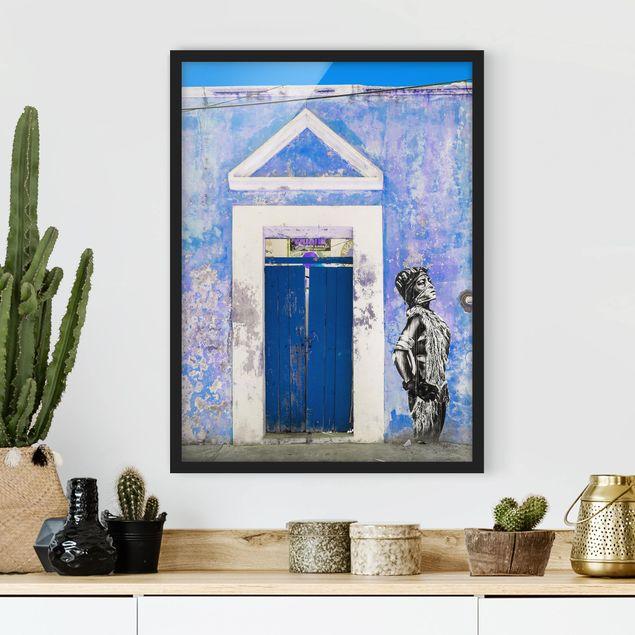Poster con cornice - Blue Main Entrance - Verticale 4:3