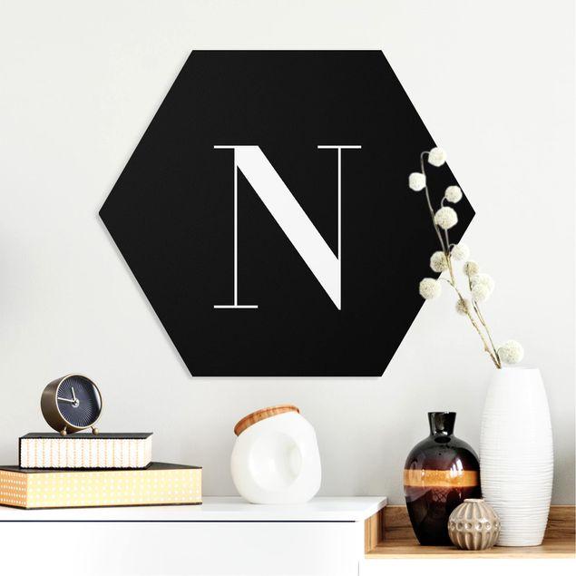 Esagono in forex - Lettera Serif Black N