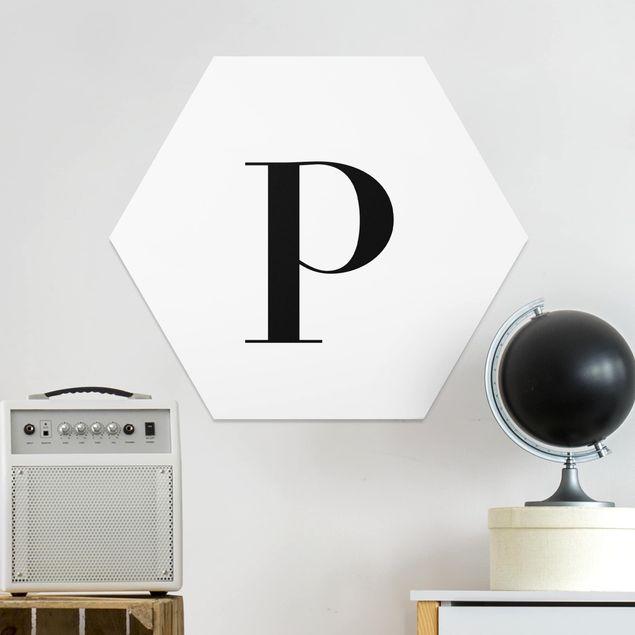 Esagono in forex - Lettera Serif Bianco P