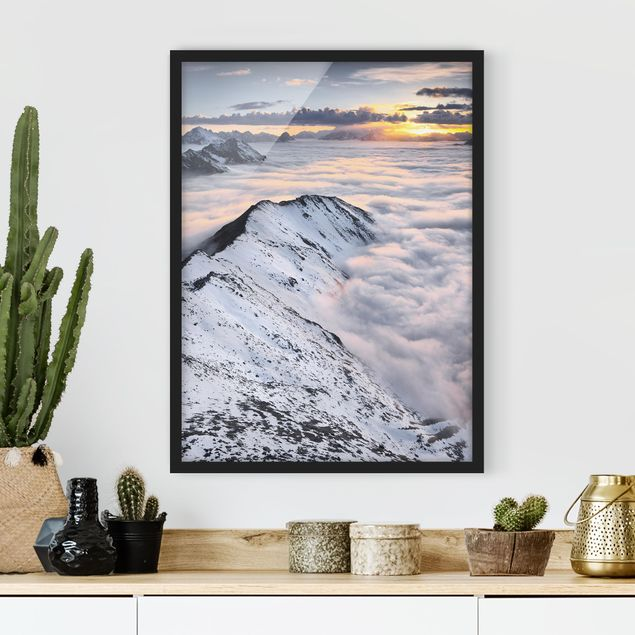 Poster con cornice - View Of Clouds And Mountains - Verticale 4:3