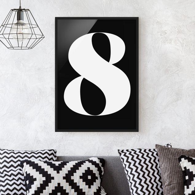 Poster con cornice - Antiqua Number 8 - Verticale 4:3