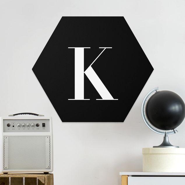 Esagono in forex - Lettera Serif nero K