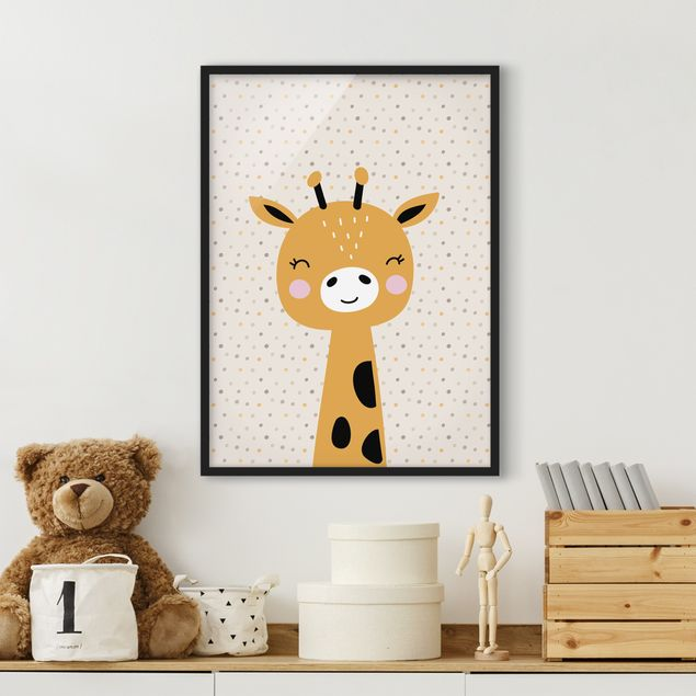 Poster con cornice - Baby Giraffe - Verticale 4:3
