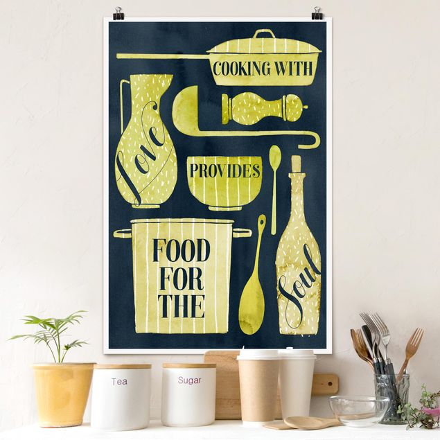 Poster - Soul Food - With Love - Verticale 3:2