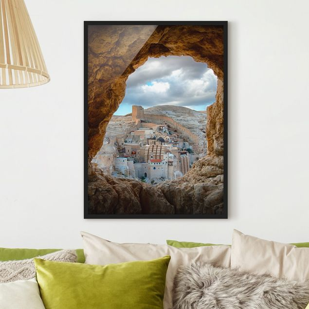Poster con cornice - View Of A Monastery - Verticale 4:3