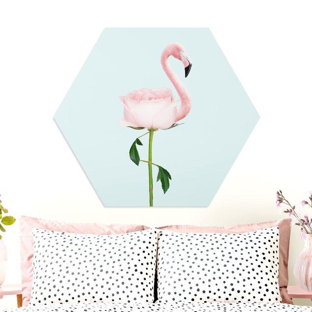 Esagono in forex - Flamingo con Rosa