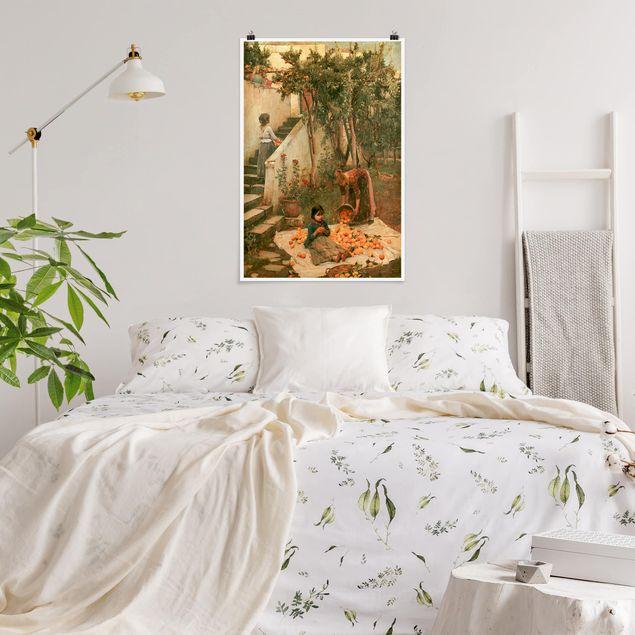 Poster - John William Waterhouse - Le Pickers Arancione - Verticale 3:2
