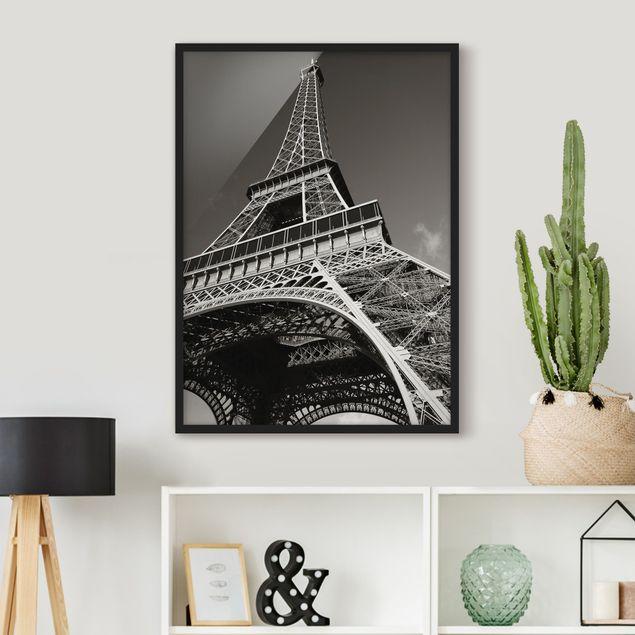 Poster con cornice - Eiffel Tower - Verticale 4:3
