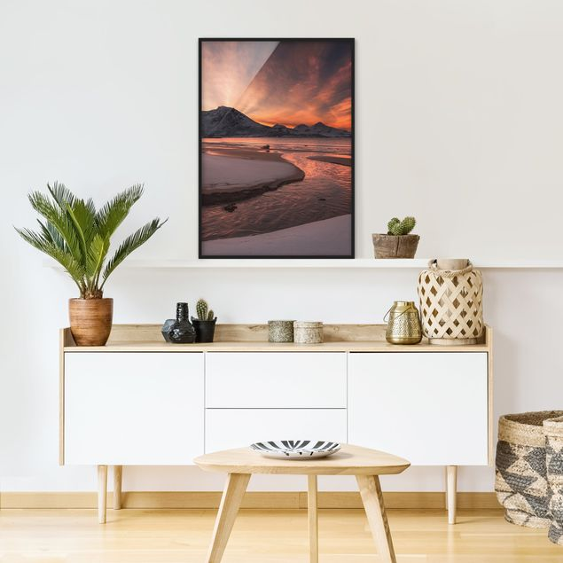 Poster con cornice - Golden Sunset - Verticale 4:3