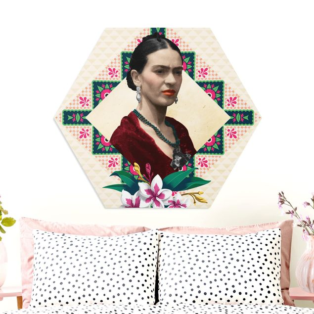 Esagono in forex - Frida Kahlo - fiori e Geometria