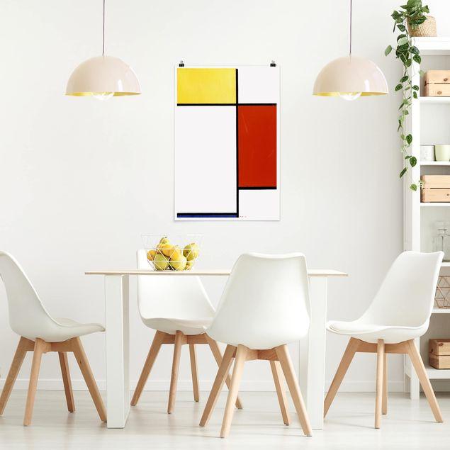 Poster - Piet Mondrian - Composizione I - Verticale 3:2