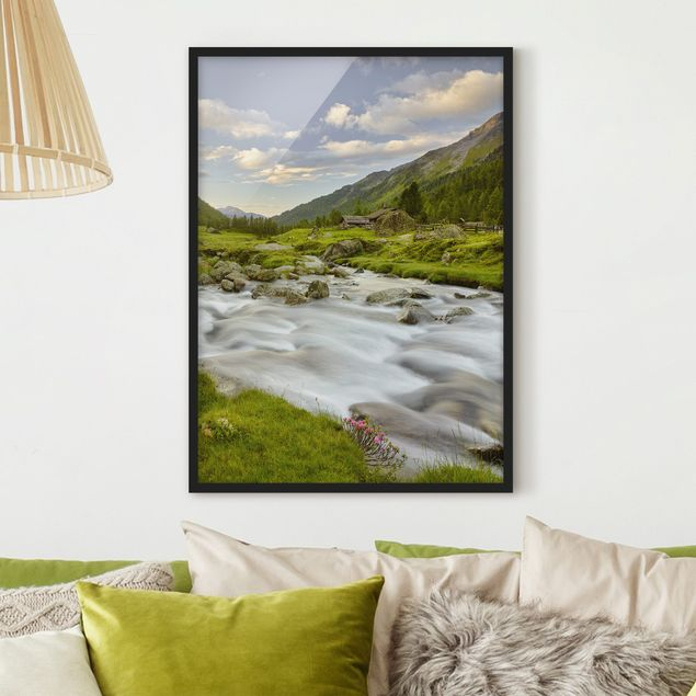 Poster con cornice - Alpine Meadow Tirol - Verticale 4:3