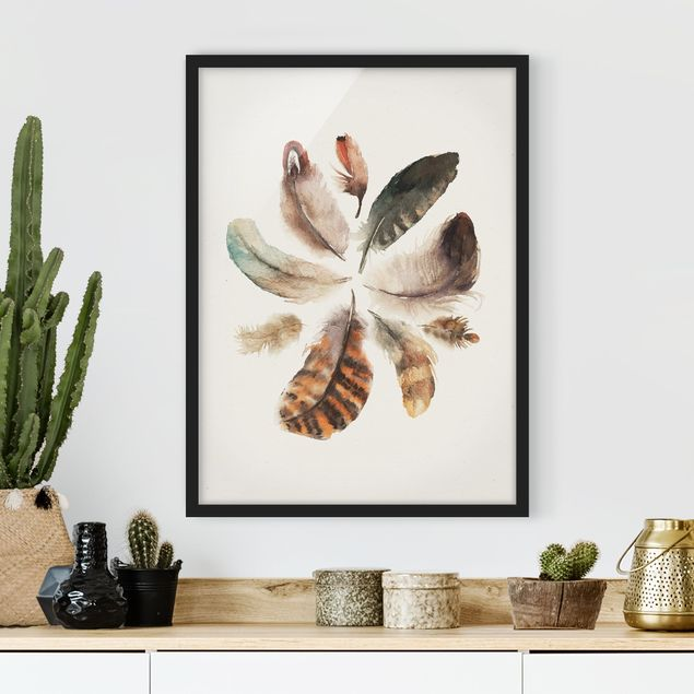 Poster con cornice - Feather Collection - Verticale 4:3