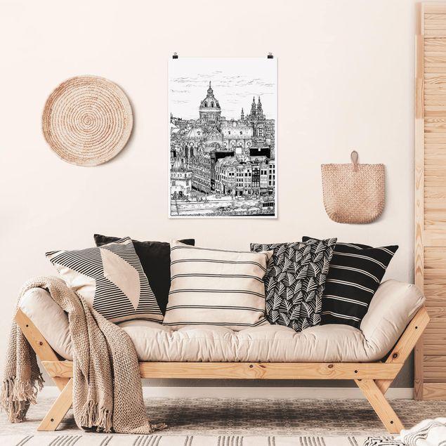 Poster - Città Studi - Inner City - Verticale 3:2