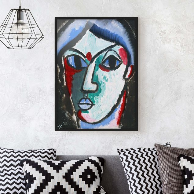Poster con cornice - Alexej Von Jawlensky - Portrait Of A Man - Verticale 4:3