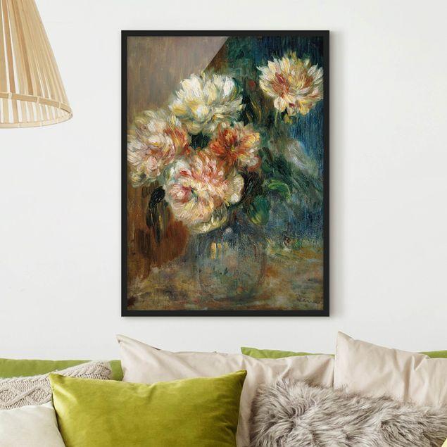 Poster con cornice - Auguste Renoir - Vase Of Peonies - Verticale 4:3