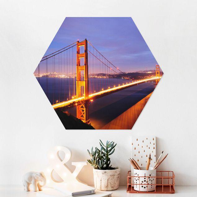 Esagono in forex - Golden Gate Bridge di notte