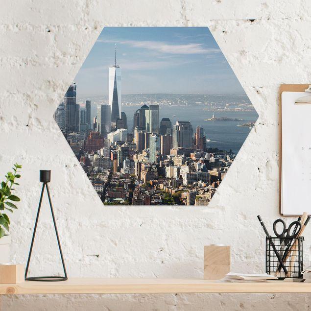 Esagono in Alu-dibond - Vista da Empire State Building