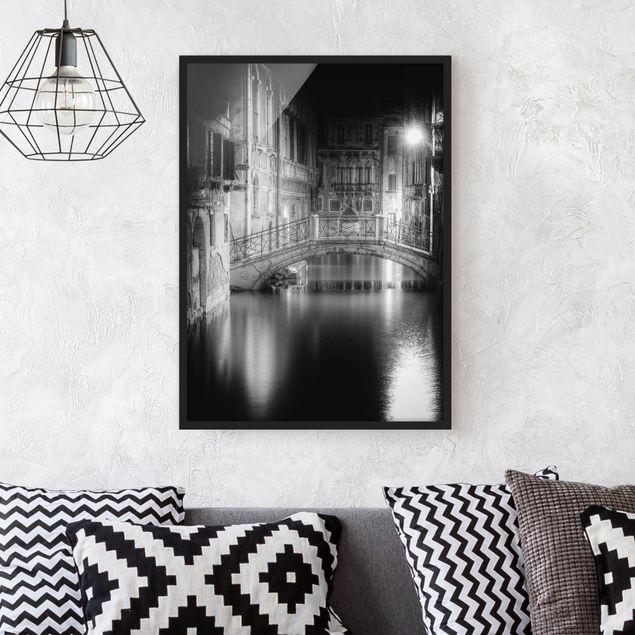 Poster con cornice - Bridge Venice - Verticale 4:3