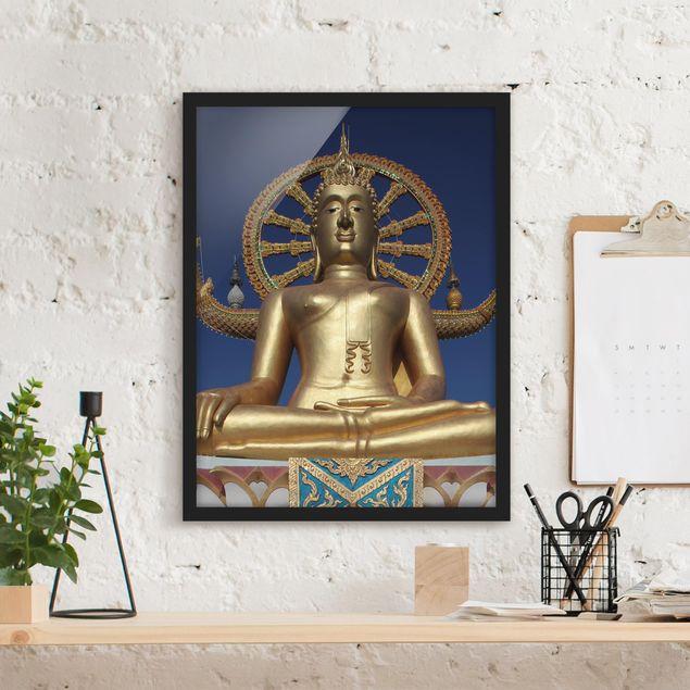 Poster con cornice - Big Golden Buddha - Verticale 4:3