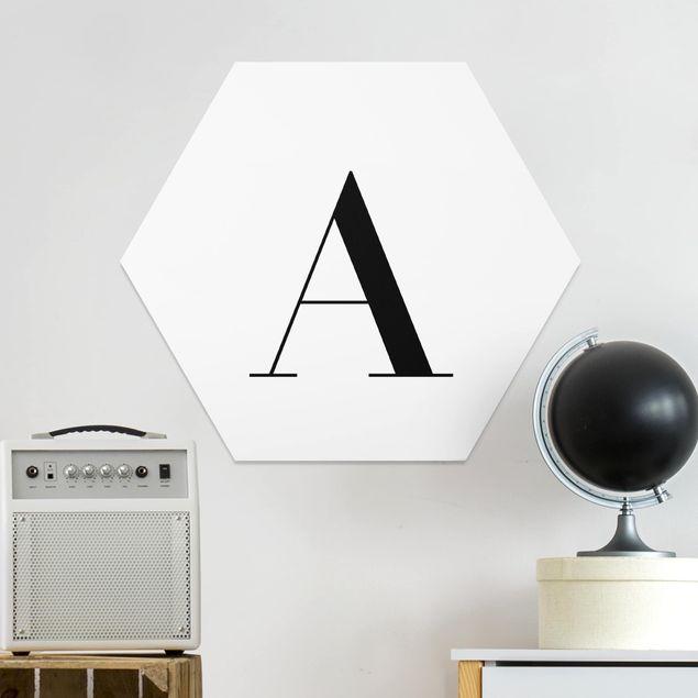 Esagono in forex - Lettera Serif Bianco A