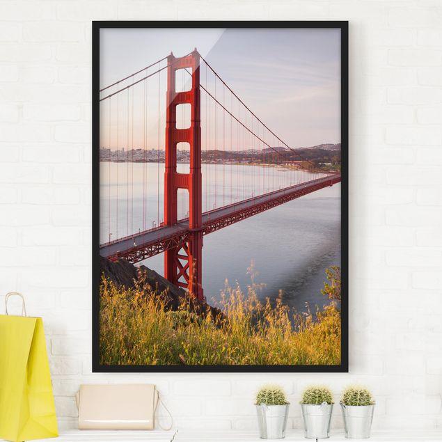 Poster con cornice - Golden Gate Bridge In San Francisco - Verticale 4:3