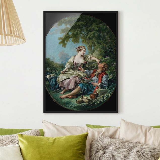 Poster con cornice - François Boucher - The Wooden Shoes - Verticale 4:3