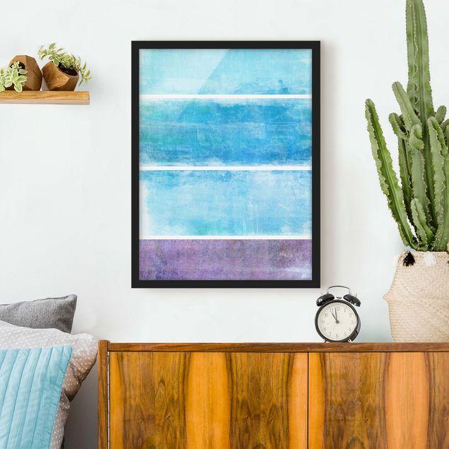 Poster con cornice - Color Harmony Blue - Verticale 4:3