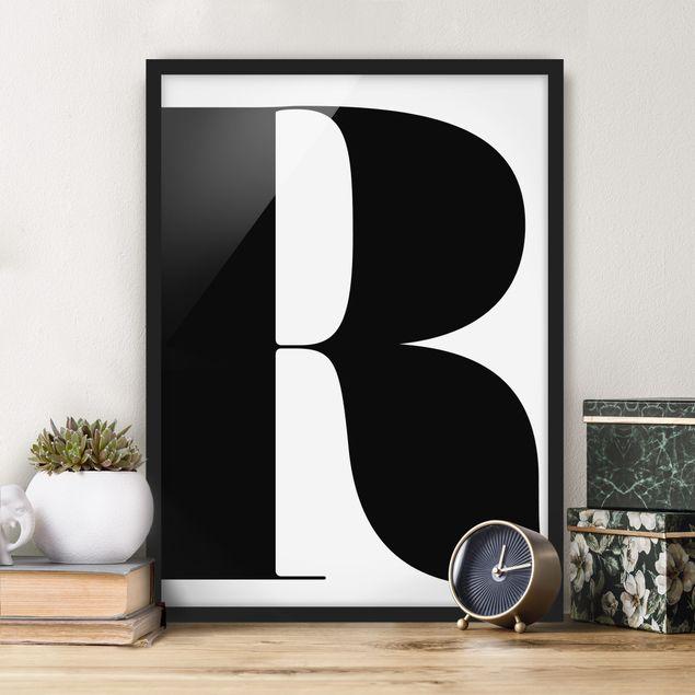 Poster con cornice - Antiqua Letter R - Verticale 4:3